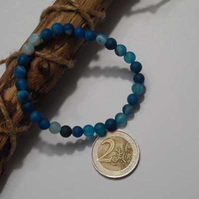 bracelet agate bleue dépolie