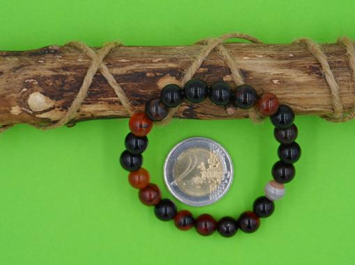bracelet agate rubannée