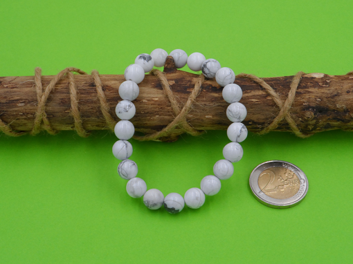 bracelet élastique en howlite 8 mm