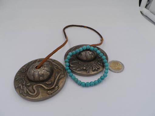 bracelet élastique en howlite turquoise 6 mm