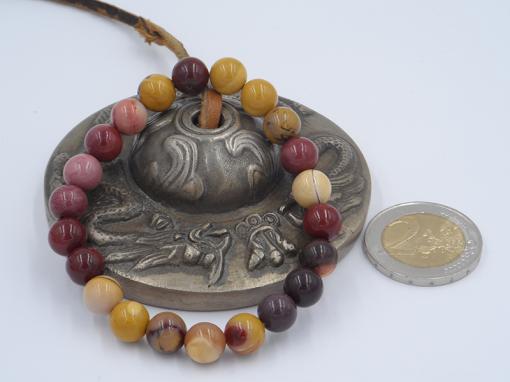 bracelet élastique en jaspe mokaïte 8mm