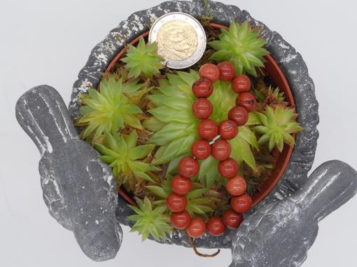 bracelet élastique en jaspe rouge 8mm