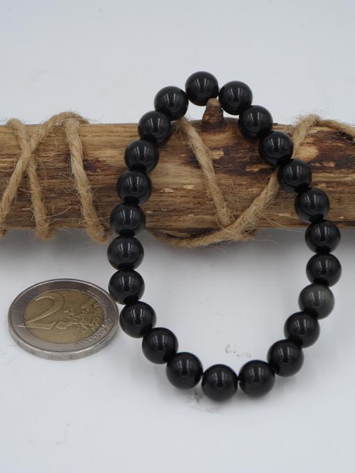 bracelet élastique en obsidienne oeil céleste 8 mm