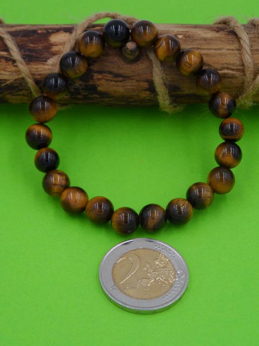 bracelet élastique en oeil de tigre 8 mm
