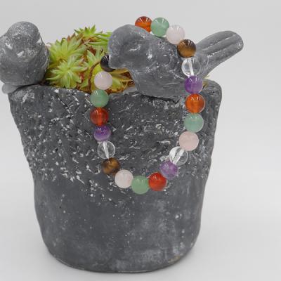 bracelet élastique en pierres mélangées 8 mm