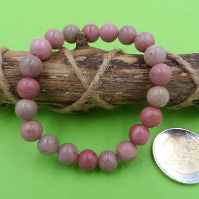 bracelet en pierre de rhodonite 8 mm