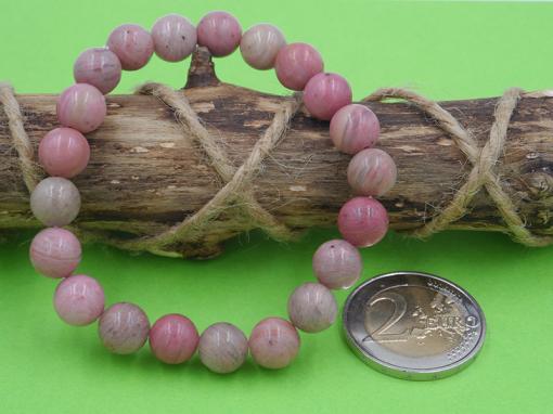 bracelet en pierre de rhodonite 8 mm