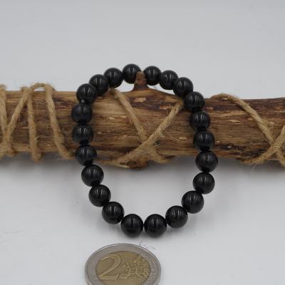 bracelet en pierre de tourmaline noire 8mm