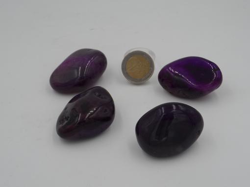 pierres roulées agate violette