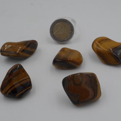 pierres roulées en oeil de tigre