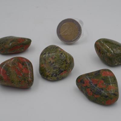 pierres roulées en unakite