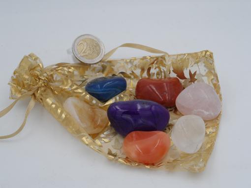 set de minéraux 7 chakras